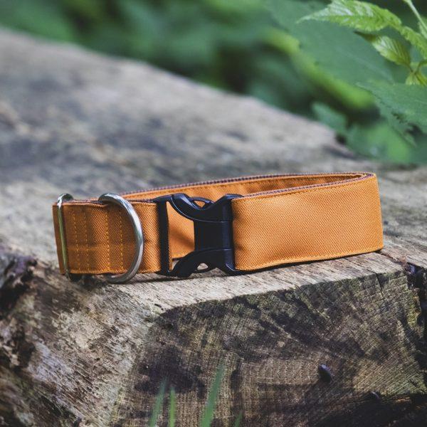 Outdoor waterproof halsband van BEACHPAWS in oranjekleur